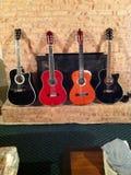 Kleine gitaarinzameling stock foto