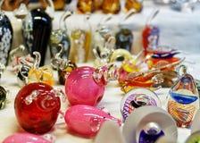 Kleine Glaszahlen am Weihnachtsmarkt in Riga Lizenzfreies Stockbild
