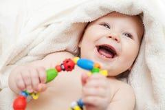 Kleine glimlachende baby Royalty-vrije Stock Foto
