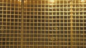 Kleine goud gekleurde vensters stock videobeelden