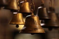 Kleine gouden klokken Royalty-vrije Stock Fotografie