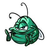 Kleine grüne Käferkarikaturillustration Lizenzfreie Stockfotografie