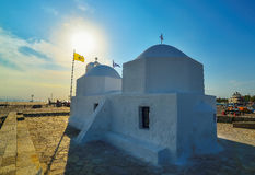 Kleine griechische Kapelle Stockbild