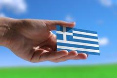 Kleine Griekse vlag Royalty-vrije Stock Foto