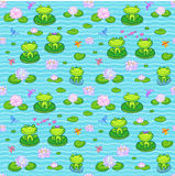 Kleine grüne Frösche in der Karikaturart Stockfotos