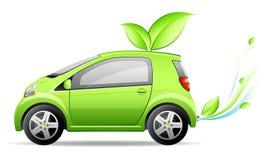 Kleine groene auto Royalty-vrije Stock Afbeelding