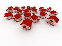 Kleine Häuser Stockbild