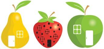 Kleine Häuser der Frucht Stockfoto