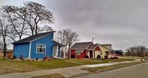 Kleine Häuser Detroits Lizenzfreies Stockbild