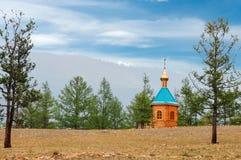 Kleine hölzerne Kirche Stockfoto