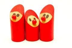 Kleine handgefertigte hölzerne Weihnachtselfen lizenzfreie stockfotografie