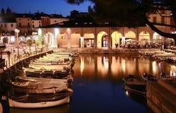Kleine haven bij nacht Royalty-vrije Stock Fotografie