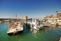 Kleine haven, Byblos Libanon Stock Afbeeldingen