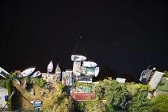 Kleine haven op het meer Royalty-vrije Stock Foto's