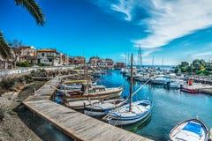 Kleine haven in Stintino royalty-vrije stock afbeeldingen