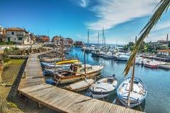Kleine haven in Stintino royalty-vrije stock foto