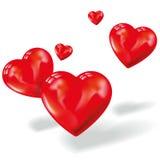 Kleine Herzen in der Luft Lizenzfreies Stockfoto