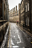 Kleine Hintergasse in Cambridge Stockfoto