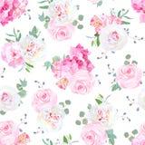 Kleine Hochzeitsblumensträuße von stiegen, Pfingstrose, Alstroemerialilie, Hortensie, blaue Beeren Stockfotos
