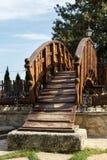 Kleine Holzbrücke Lizenzfreies Stockbild