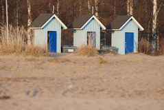 Kleine Holzhäuser Stockfotografie