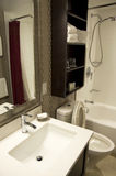 Kleine hotelbadkamers Stock Fotografie