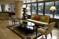 Kleine hotelhal royalty-vrije stock afbeeldingen