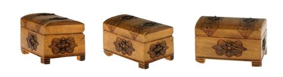 Kleine houten borst Royalty-vrije Stock Afbeeldingen