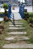 Kleine houten brug stock foto