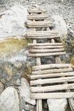 Kleine houten brug royalty-vrije stock foto