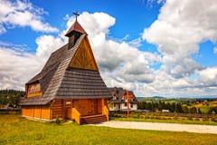 Kleine houten kerk Royalty-vrije Stock Foto's