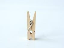 kleine houten klem of houten wasknijpers stock afbeelding