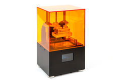Kleine huis 3D printer Royalty-vrije Stock Fotografie