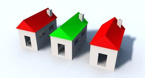 Kleine huizen Stock Afbeelding