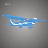 Kleine Illustration des flachen Vektors Einmotorige angetriebene Flugzeuge Auch im corel abgehobenen Betrag Lizenzfreie Stockbilder