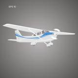 Kleine Illustration des flachen Vektors Einmotorige angetriebene Flugzeuge Auch im corel abgehobenen Betrag Stockfoto