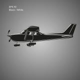 Kleine Illustration des flachen Vektors Einmotorige angetriebene Flugzeuge Auch im corel abgehobenen Betrag ikone Stockbilder
