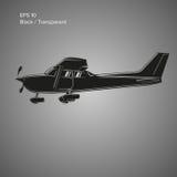 Kleine Illustration des flachen Vektors Einmotorige angetriebene Flugzeuge Auch im corel abgehobenen Betrag ikone Lizenzfreie Stockfotos