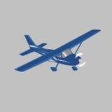 Kleine Illustration des flachen Vektors Einmotorige angetriebene Passagierflugzeuge Helle Flugzeuge Auch im corel abgehobenen Bet Stockbilder