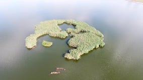 Kleine Insel stock footage