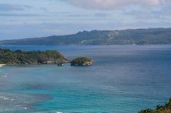 Kleine Insel nahe Boracay-Insel Lizenzfreies Stockbild