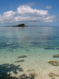 Kleine Insel nahe Malapascua, Phils Stockbild