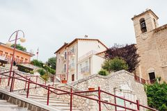 Kleine Italiaanse stad, Abruzzo Stock Foto