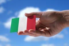 Kleine Italiaanse vlag Stock Afbeelding