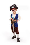 Kleine jongen in het piraatkostuum Royalty-vrije Stock Afbeelding
