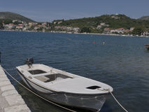 Kleine Küste Fischerboot Kroatiens Adria Stockfotografie