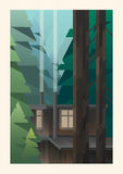 Kleine Kabine im Holz Lizenzfreie Stockbilder