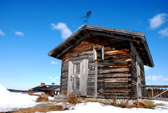 Kleine kapel in fins Lapland stock foto's