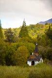 Kleine kapel in het hout Stock Afbeeldingen