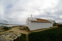 Kleine kapel op een klip, Baleal, Portugal #2 Royalty-vrije Stock Fotografie